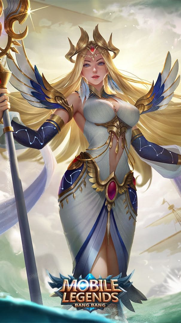 Wallpaper Kadita White Robin Skin Mobile Legends HD for Android and iOS