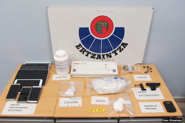 detención por tráfico de drogas