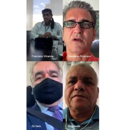 Robinson discute crédito e auxílio financeiro para trabalhadores do transporte complementar na Bahia