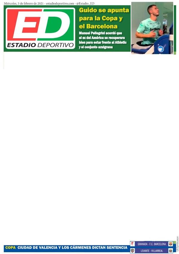 """Betis, Estadio Deportivo: """"Guido se apunta para la Copa y el Barcelona"""""""