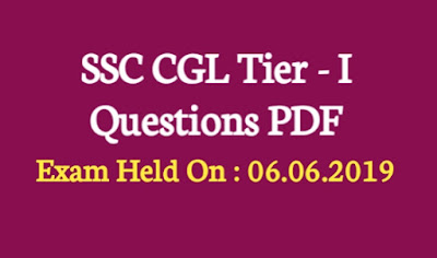 SSC CGL Tier - I 2018 Question Paper PDF Download