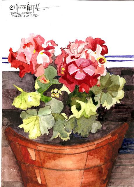 "<alt=""Pintar flores Acuarela""/>"