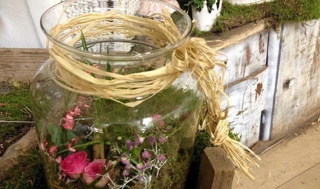 Shabby-Chic und Blumendekoration