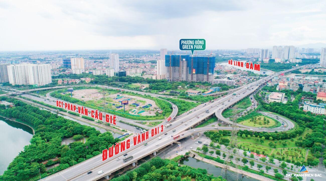 Kết nối giao thông dự án Phương Đông Green Park