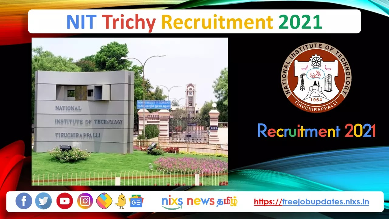 NIT Trichy Recruitment 2021 92 Faculty Posts - Apply Online