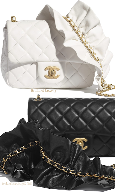 Black & white Chanel flap bags #brilliantluxury