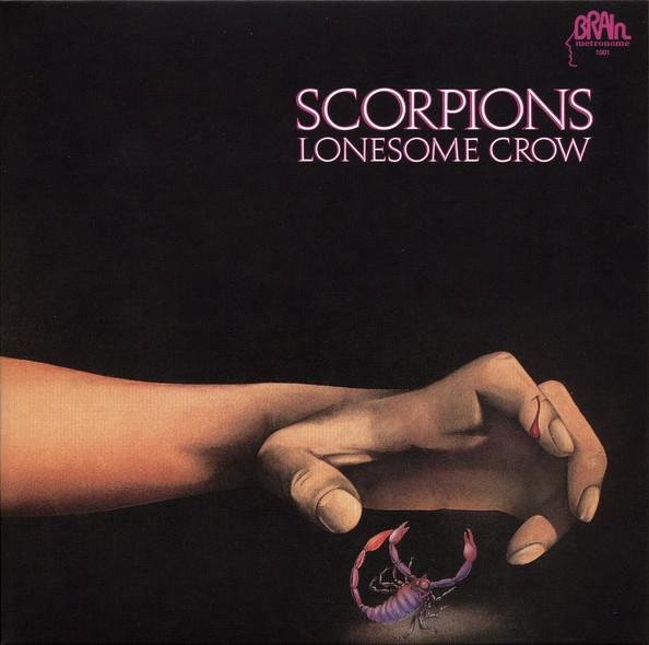 Portada de disco de Scorpions - Lonesome Crow. 1972.