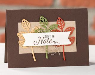 Stampin' Up! Flourish Thinlit Dies Autumn Just a Note Card