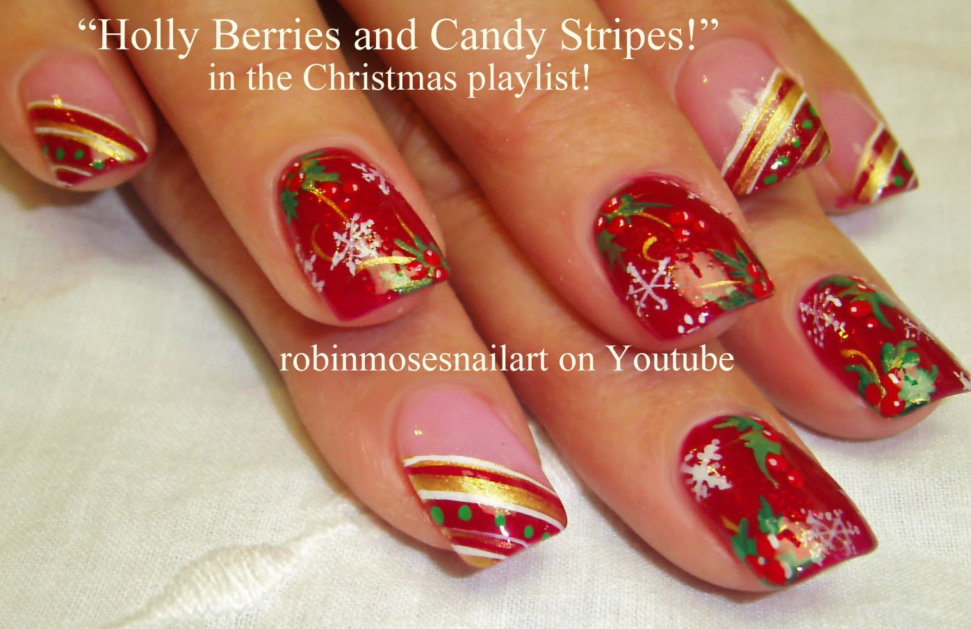 Nail Art By Robin Moses Christmas Nails Xmas