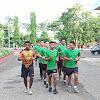 Kasrem  141/Tp, Pimpin Apel Pagi Di Stadion Lapatau