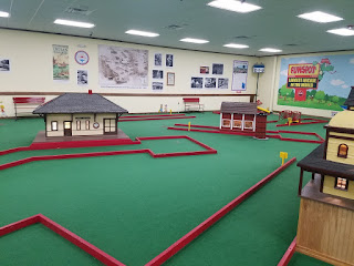 Indoor minigolf at Funspot New Hampshire. Photo by Adam Lueb, November 2018