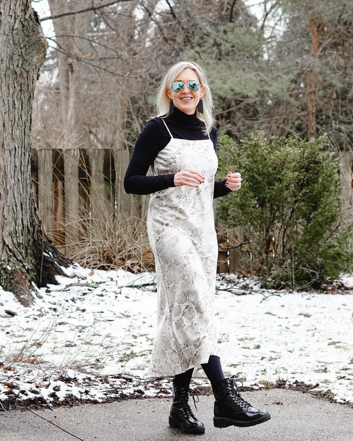 ways to style a slip dress