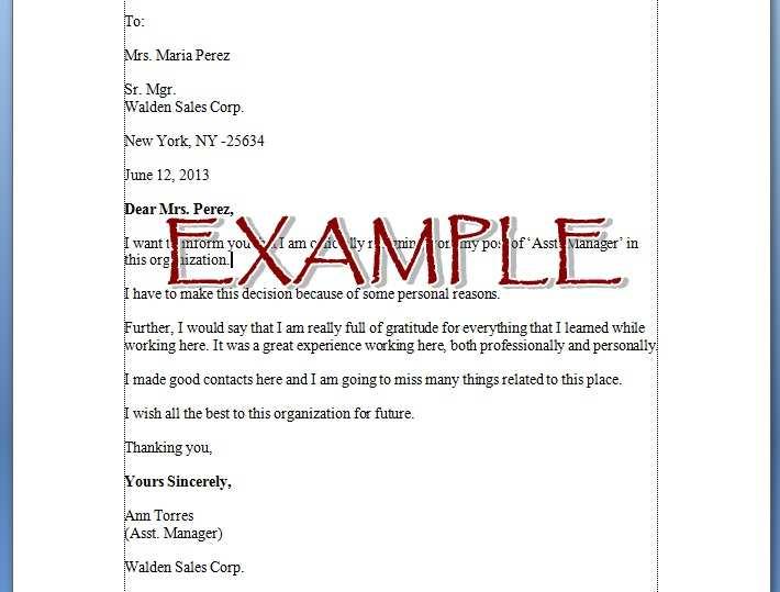 2 contoh surat resign bahasa inggris lembar surat