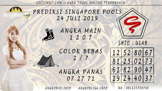 PREDIKSI SINGAPORE POOLS 24 JULI 2019