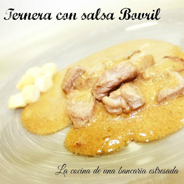 Receta de ternera con salsa Bovril paso a paso y con fotografías