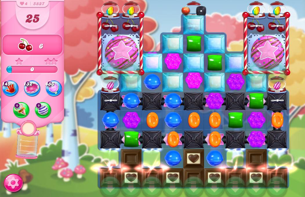 Candy Crush Saga level 5827