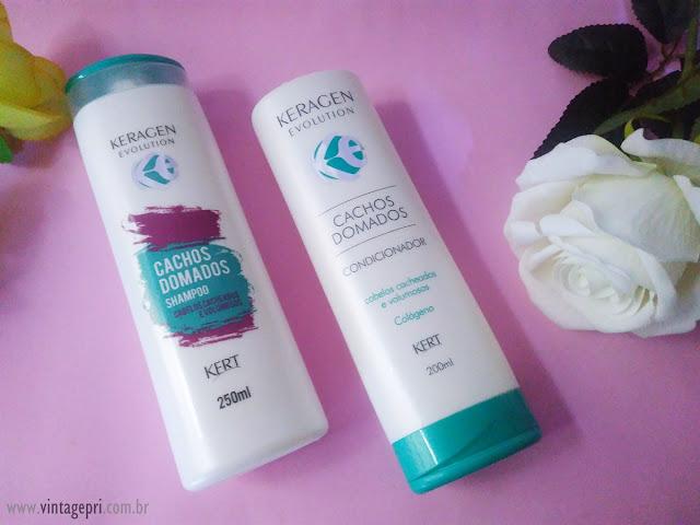#Testei: Shampoo e Condicionador Linha Cachos Domados (Kert Cosméticos)