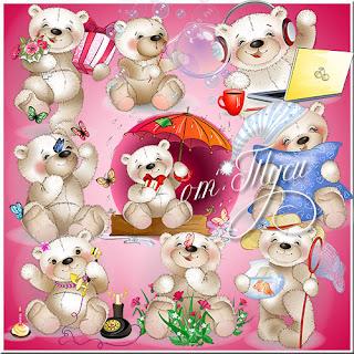 Clipart PSD Teddy bear brinquedo