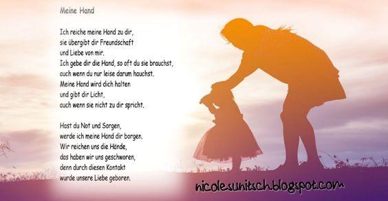 Gedichte Von Nicole Sunitsch Autorin Meine Hand Muttertag