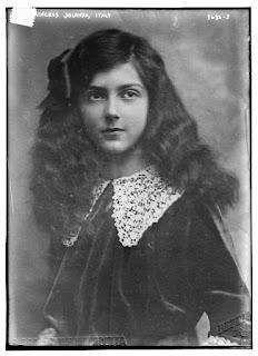 A photograph of Princess Iolanda of  Savoy as a young woman