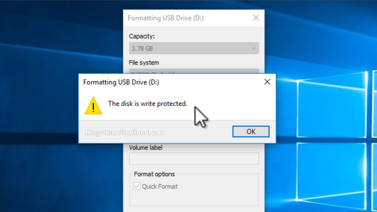 "Cách khắc phục lỗi ""The disk is write protected"" hiệu quả"