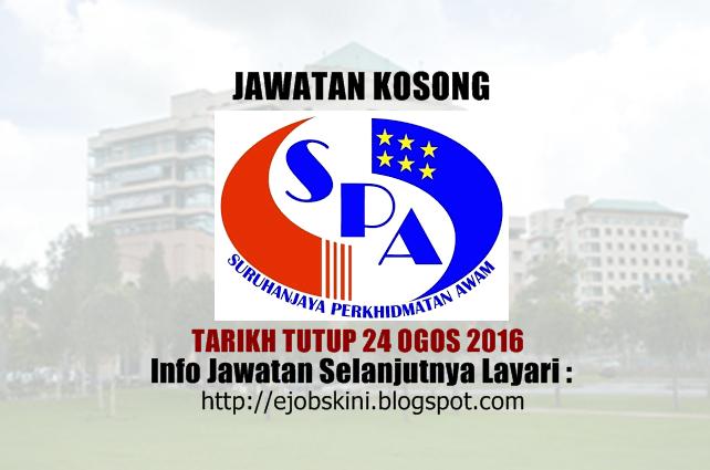 Jawatan Kosong Suruhanjaya Perkhidmatan Awam (SPA8) Ogos 2016