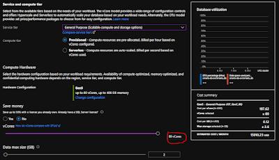 Azure SQL DB Provisioned 80 vCores