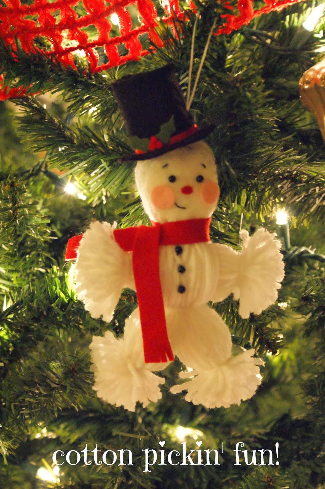 Cotton Pickin Fun Yarn Snowman