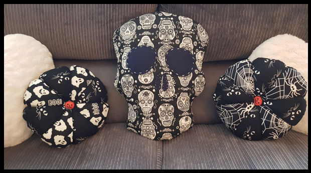 How I made a skull cushion