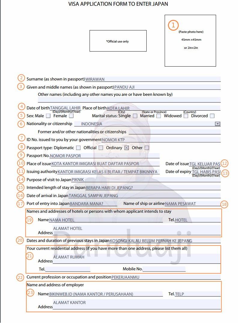 Cara Mudah Membuat Visa Jepang Sendiri Panduaji Net