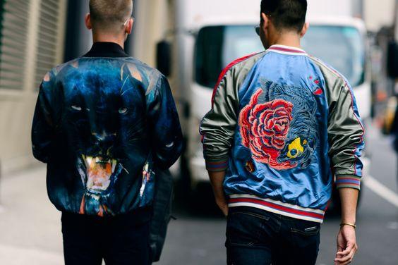 jaqueta masculina estampada