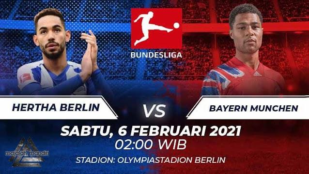 Prediksi Hertha Berlin Vs Bayern Munchen, Sabtu 06 Februari 2021 Pukul 02.00 WIB @ Mola TV