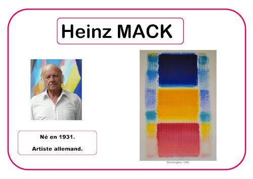 Heinz Mack - Portrait d'artiste en maternelle selon Barbara