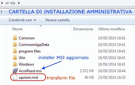 Adobe Customization Wizard XI - Installazione amministrativa