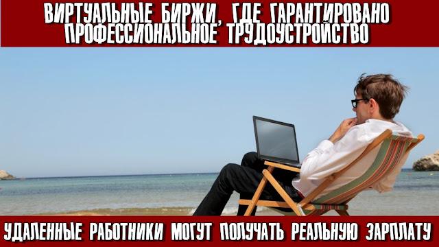 Виртуальные биржи, где гарантировано профессиональное трудоустройство