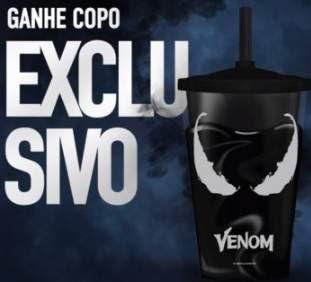 Promoção Cinemark Filme Venom Compre Ganhe Copo Exclusivo