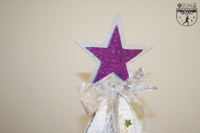 estrella en goma eva purpurina navidad con niños