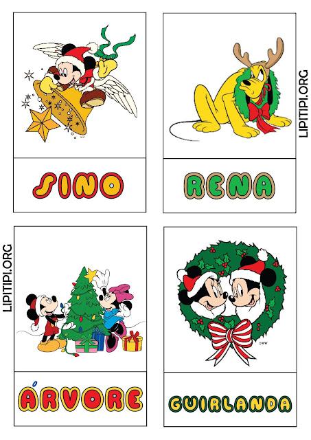 Jogo Pedagógico Pareamento Figura Palavra Natal