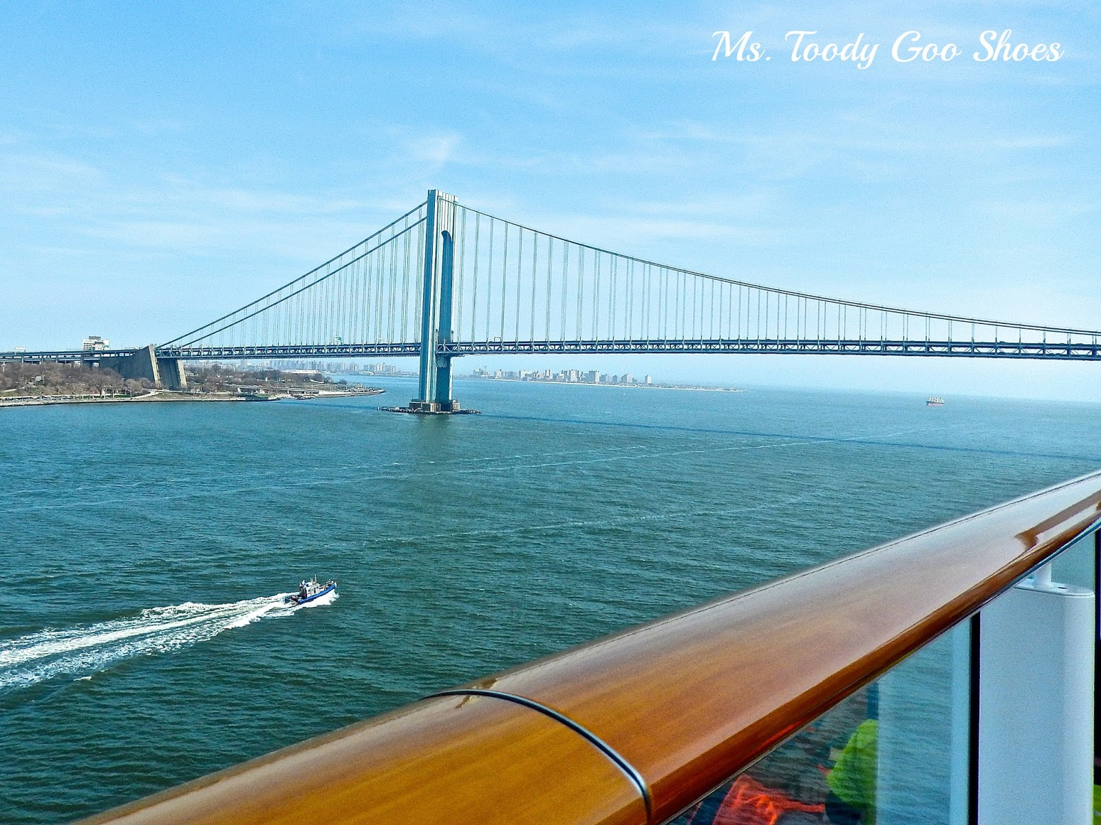 Verrazano Bridge from Norwegian Breakaway Cruise Ship  --- Ms. Toody Goo Shoes