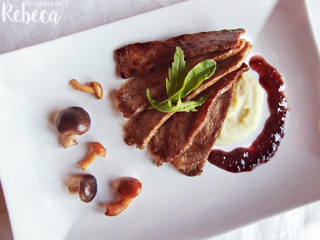 Presa ibérica marinada estilo oriental