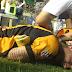 Hinchas de Blooming causaron bochorno tras el final del partido