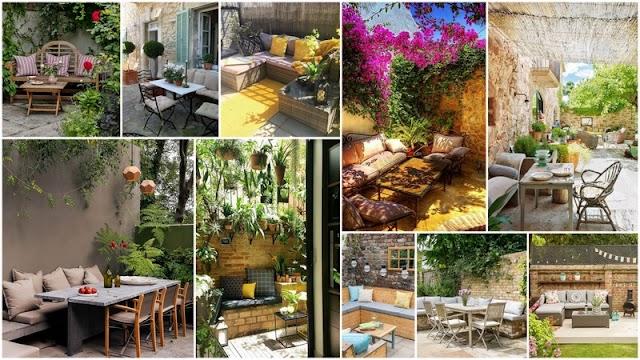 25+ Πολύ εντυπωσιακά Καθιστικά - Τραπεζαρίες Κήπου