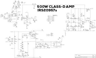 Power 500W Class-D Amp IRS20957 SMD
