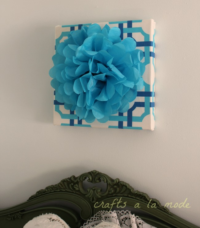How to make a lovely tissue paper wall art picture.