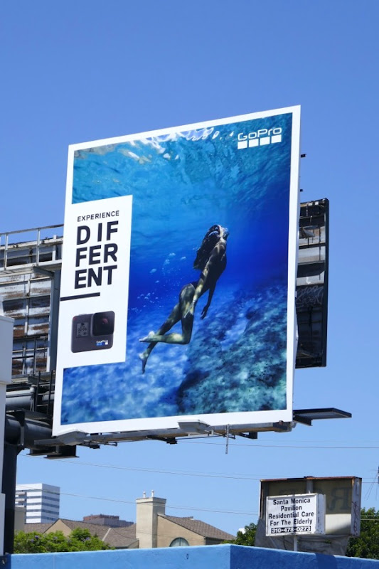GoPro Experience difference underwater swimmer billboard