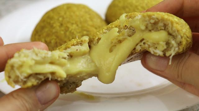 Pão de batata vegano recheado receita Pensando ao contrário