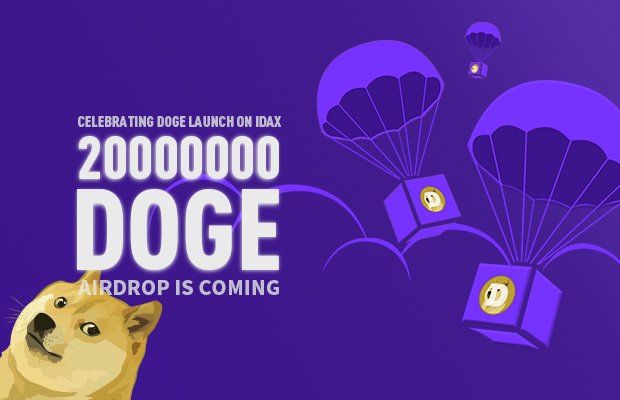 20 Million Doge Coin Airdrop In IDAX Exchange