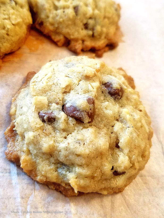 these are cookies that have everything in them like coconut, nuts, chocolate, oatmeal and look like chocolate chips but loaded