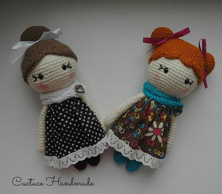 Вязаные куклы амигуруми крючком