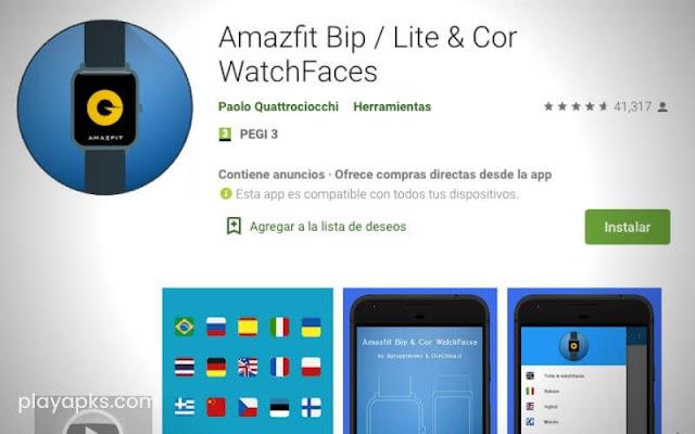 Descargar en Amazfit Bip / Lite & Cor WatchFaces para android